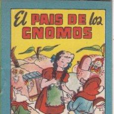 Tebeos: ANTIGUO MINI CUENTO DE EL PAIS DE LOS GNOMOS CON PUBLICIDAD DE CHOCOLATE CORTES (BRUGUERA 1959). Lote 194239101