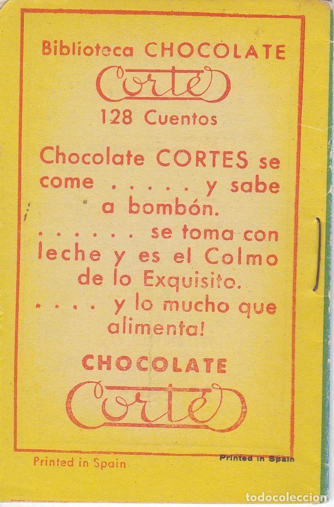 Tebeos: ANTIGUO MINI CUENTO DE LOS GUANTES ENCANTADOS CON PUBLICIDAD DE CHOCOLATE CORTES (BRUGUERA 1959) - Foto 2 - 194239166
