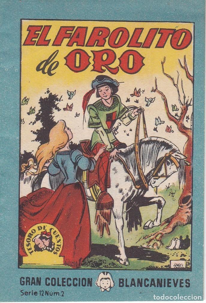 ANTIGUO MINI CUENTO DE EL FAROLITO DE ORO CON PUBLICIDAD DE CHOCOLATE CORTES (BRUGUERA 1959) (Tebeos y Comics - Bruguera - Otros)