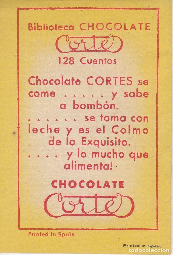 Tebeos: ANTIGUO MINI CUENTO DE EL FAROLITO DE ORO CON PUBLICIDAD DE CHOCOLATE CORTES (BRUGUERA 1959) - Foto 2 - 194239223