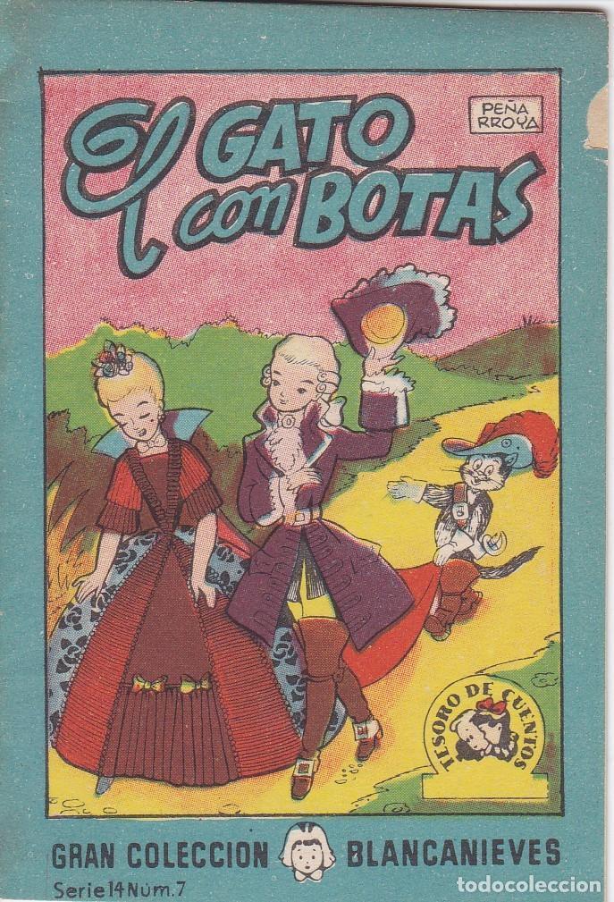 ANTIGUO MINI CUENTO DE EL GATO CON BOTAS CON PUBLICIDAD DE CHOCOLATE CORTES (BRUGUERA 1959) (Tebeos y Comics - Bruguera - Otros)