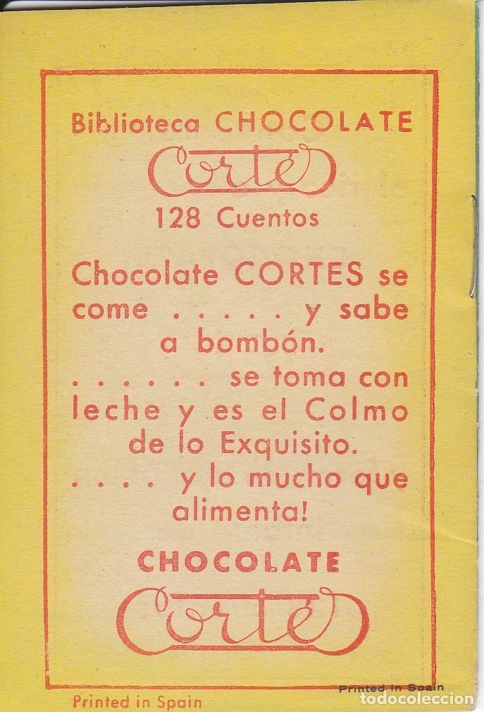 Tebeos: ANTIGUO MINI CUENTO DE EL GATO CON BOTAS CON PUBLICIDAD DE CHOCOLATE CORTES (BRUGUERA 1959) - Foto 2 - 194239258