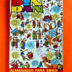 Tebeos: DIN DAN - ALMANAQUE PARA 1972 - EDITORIAL BRUGUERA 1971 - ORIGINAL, MUY BUEN ESTADO, DIFÍCIL !!!. Lote 194244136