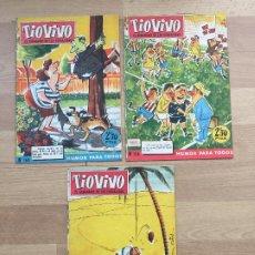 Tebeos: LOTE 3 EJEMPLARES TIOVIVO MUY ANTIGUOS - NUMEROS 158, 159, 169 - BRUGUERA - GCH1. Lote 194281908