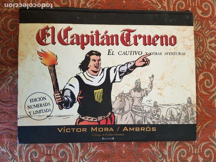 EL CAPITÁN TRUENO: EL CAUTIVO Y OTRAS.../ VÍCTOR MORA Y AMBRÓS / EDICIÓN NUMERADA Y LIMITADA / ED. B (Tebeos y Comics - Bruguera - Capitán Trueno)