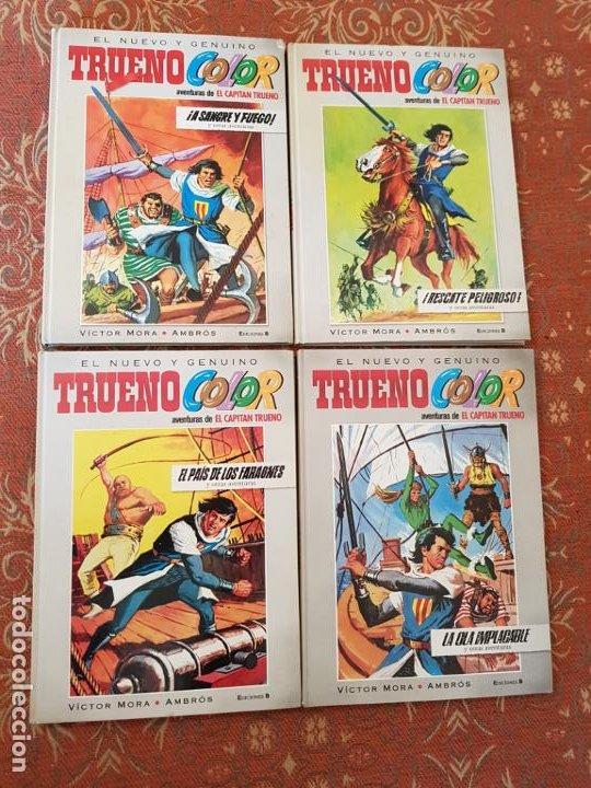 EL NUEVO Y GENUINO TRUENO COLOR,AVENTURAS DEL CAPITÁN TRUENO,TOMOS 1-2-3-4 .VER DETALLES Y FOTOS (Tebeos y Comics - Bruguera - Capitán Trueno)