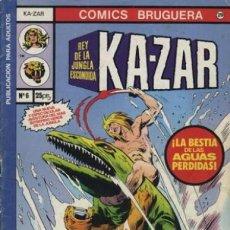Tebeos: KA-ZAR-EL REY DE LA JUNGLA-CÓMICS BRUGUERA- Nº 6-GRAN JOHN BUSCEMA-1978-BUENO-DIFÍCIL-LEAN-3100. Lote 194392726