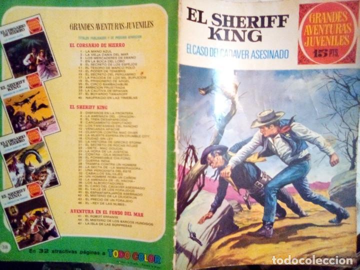 Tebeos: EL SHERIFF KING-GRANDES AVENTURAS JUVENILES- Nº 38 -EL CASO DEL CADÁVER ASESINADO-1973-DIFíCIL-3807 - Foto 2 - 219387107