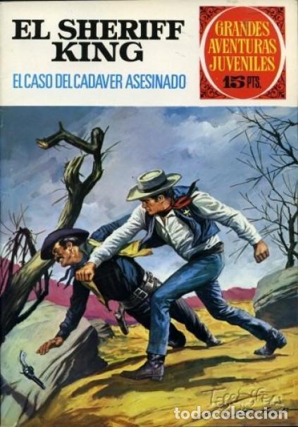 Tebeos: EL SHERIFF KING-GRANDES AVENTURAS JUVENILES- Nº 38 -EL CASO DEL CADÁVER ASESINADO-1973-DIFíCIL-3807 - Foto 5 - 219387107