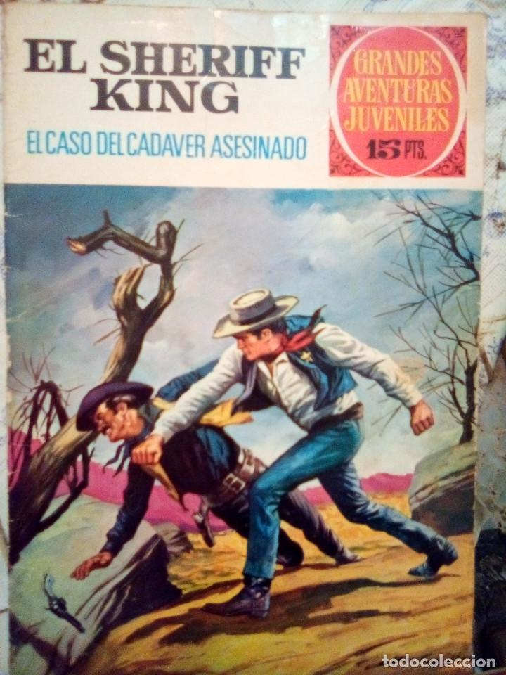 EL SHERIFF KING-GRANDES AVENTURAS JUVENILES- Nº 38 -EL CASO DEL CADÁVER ASESINADO-1973-DIFÍCIL-3807 (Tebeos y Comics - Bruguera - Sheriff King)