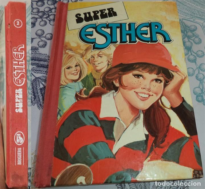 SUPER ESTHER TOMO POCKET N.º 2 ED. BRUGUERA 1 EDICION 1982 PASTA DURA DEFECTOS EN EL LOMO (Tebeos y Comics - Bruguera - Esther)