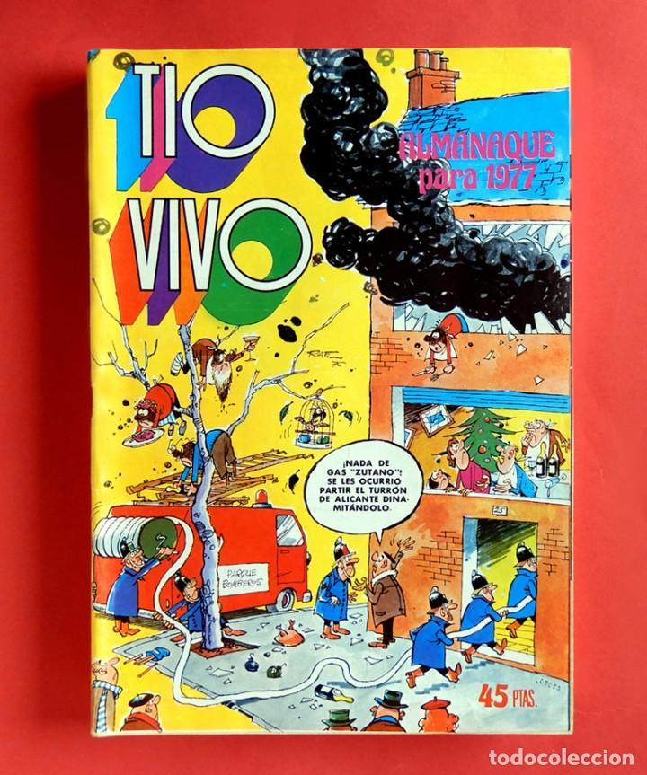 TIO VIVO, ALMANAQUE PARA 1977 - Nº 18 - EDITORIAL BRUGUERA, ORIGINAL - MUY BUEN ESTADO (Tebeos y Comics - Bruguera - Tio Vivo)
