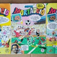 Tebeos: LOTE SÚPER MORTADELO 25 ANIVERSARIO: NÚMEROS 155-156-158 (BRUGUERA, 1983).. Lote 194706755