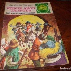 Tebeos: VEINTE AÑOS DESPUES, ALEJANDRO DUMAS. JOYAS LITERARIAS JUVENILES Nº 97 BRUGUERA 2ª ED. 9.5.77. Lote 194732473