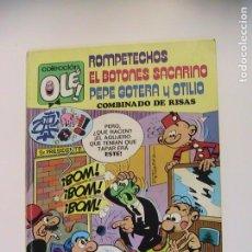 Tebeos: ROMPETECHOS, EL BOTNOES SACARINO, PEPE GOTERA Y OTILIO. COMBINADO DE RISAS. BRUGUERA, 3ª ED, 1979.. Lote 194755762