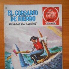 Tebeos: JOYAS LITERARIAS JUVENILES SERIE ROJA Nº 50 - EL CORSARIO DE HIERRO - BRUGUERA (S). Lote 194778617
