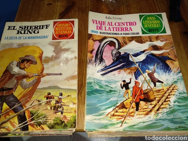 LOTE DE CÓMICS AVENTURAS JUVENILES Y JOYAS LITERARIAS (Tebeos y Comics - Bruguera - Joyas Literarias)
