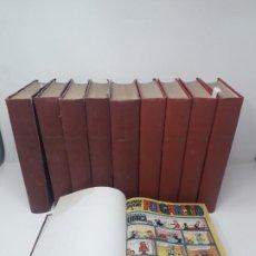 Tebeos: 10 TOMOS ENCUADERNADOS DE DISTINTOS NÚMEROS DE PULGARCITO (284 NÚMEROS). Lote 194884631