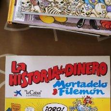 Tebeos: LA HISTORIA DEL DINERO MORTADELO Y FILEMÓN LA CAIXA. Lote 194890785