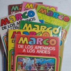 Tebeos: MARCO DE LOS APENINOS A LOS ANDES CASI COMPLETA 11 DE 12 TOMOS ESTADO BUENO FALTA TOMO 5 . Lote 194950967