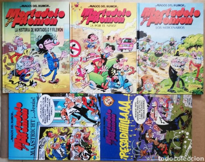 5 EJEMPLARES DE MORTADELO Y FILEMÓN - Nº 15 - 29 - 36 - 47 - 58 - TAPA DURA - PJRB (Tebeos y Comics - Bruguera - Mortadelo)