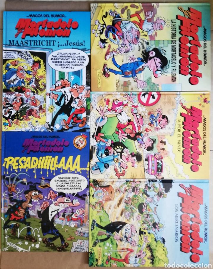 Tebeos: 5 Ejemplares de MORTADELO Y FILEMÓN - Nº 15 - 29 - 36 - 47 - 58 - TAPA DURA - PJRB - Foto 2 - 194952407