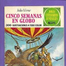 Tebeos: JOYAS LITERARIAS JUVENILES NUMERO 62 CINCO SEMANAS EN GLOBO. Lote 194953740