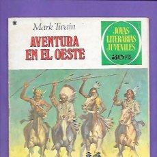 Tebeos: JOYAS LITERARIAS JUVENILES NUMERO 58 AVENTURAS EN EL OESTE. Lote 194965800