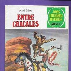 Tebeos: JOYAS LITERARIAS JUVENILES NUMERO 45 ENTRE CHACALES. Lote 194986635