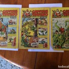 Tebeos: COMIC EL CAPITAN TRUENO EXTRA Nº 33 -34 -40- LOTE 3 REVT,. Lote 195002140