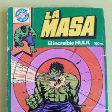 Tebeos: LA MASA EL INCREÍBLE HULK 7 POCKET DE ASES BRUGUERA 1982. Lote 195007856