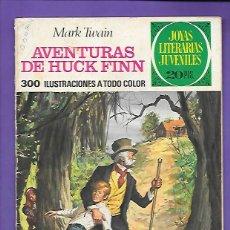 Tebeos: JOYAS LITERARIAS JUVENILES NUMERO 40 AVENTURAS DE HUCK FINN. Lote 195015626