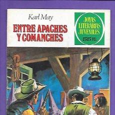 Tebeos: JOYAS LITERARIAS JUVENILES NUMERO 36 ENTRE APACHES Y COMANCHES. Lote 195017355
