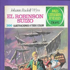 Tebeos: JOYAS LITERARIAS JUVENILES NUMERO 23 EL ROBISON SUIZO. Lote 195026177
