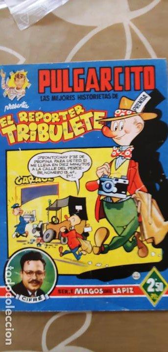 MAGOS DEL LÁPIZ PULGARCITO EL REPORTER TRIBULETE CIFRÉ BRUGUERA BUEN ESTADO (Tebeos y Comics - Bruguera - Pulgarcito)