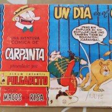 Tebeos: MAGOS DE LA RISA Nº 9 ALBUM PULGARCITO CARPANTA UN DIA EN EL CIRCO ESCOBAR BRUGUERA. Lote 195124237