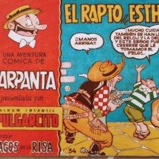 Tebeos: MAGOS DE LA RISA Nº 34 ALBUM PULGARCITO CARPANTA EL RAPTO DE ESTHERILLA ESCOBAR BRUGUERA. Lote 195124821