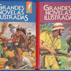 Tebeos: GRANDES NOVELAS ILUSTRADAS - TOMO 1 Y 2 - BRUGUERA - 1º EDICIÓN (1984). Lote 195154305