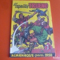 Tebeos: ALMANAQUE DE 1958,FACSIMIL. CAPITAN TRUENO.. Lote 195165157