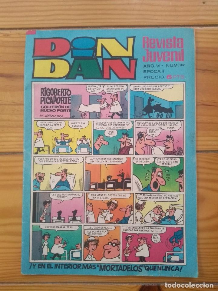 DIN DAN Nº 187 - MORTADELOS RECORTADOS (Tebeos y Comics - Bruguera - Din Dan)