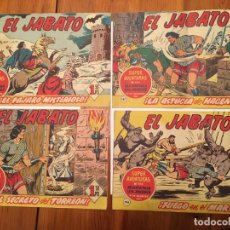 Tebeos: COMIC EL JABATO SUPER AVENTURAS Nº 183 -184 -187 -194 - LOTE 4 REVT,. Lote 195230583