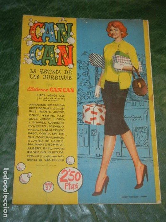 CAN CAN - NUM.37 - ED.BRUGUERA 1958 - CONTRAPORTADA COLEEN GRAY (Tebeos y Comics - Bruguera - Otros)