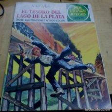 Tebeos: EL TESORO DEL LAGO DE LA PLATA KARL MAY JOYAS LITERARIAS JUVENILES Nº 55 EDITORIAL BRUGUERA 1976. Lote 195265376
