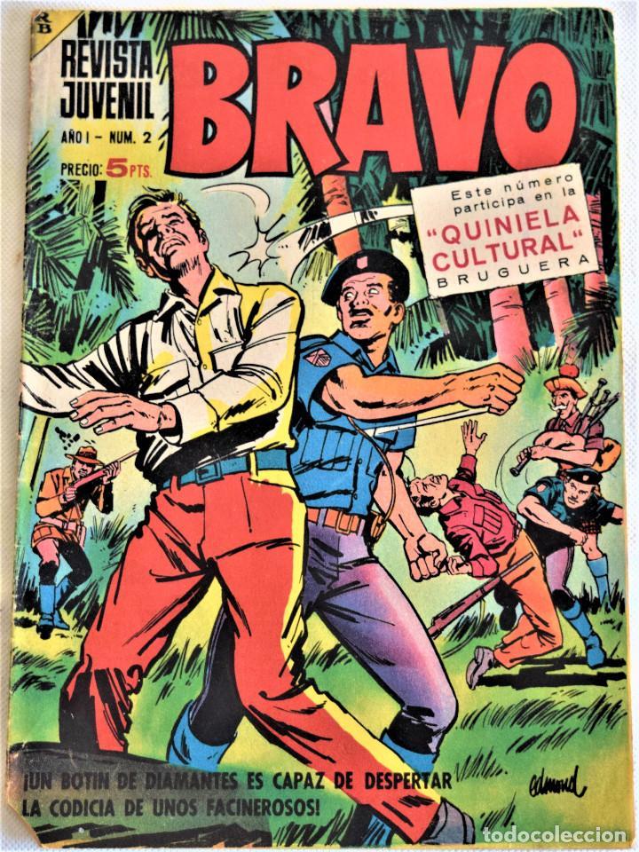 BRAVO Nº 1 Y 2 - AÑO 1 - EDITORIAL BUGUERA - TAPA BLANDA (Tebeos y Comics - Bruguera - Bravo)