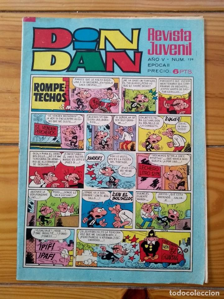 DIN DAN Nº 139 (Tebeos y Comics - Bruguera - Din Dan)
