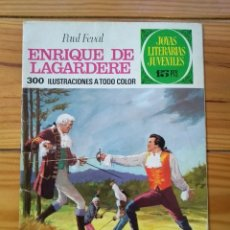 Tebeos: JOYAS LITERARIAS JUVENILES Nº 27 1ª EDICIÓN 1971 - ENRIQUE DE LAGARDERE. Lote 195306545