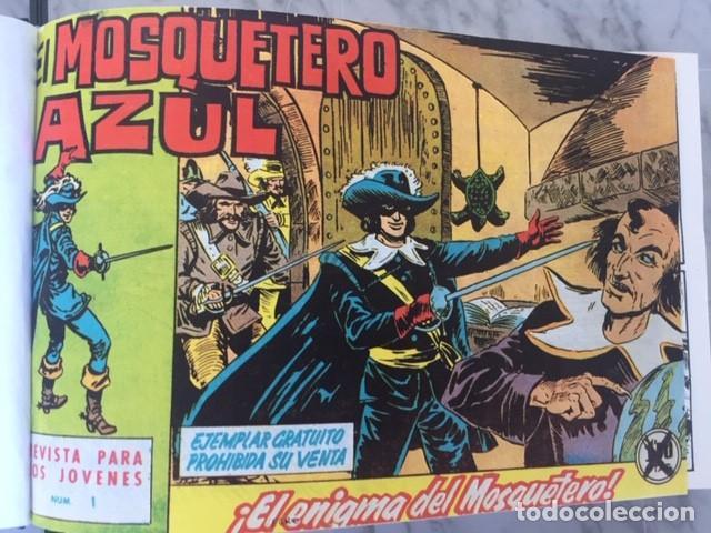 Tebeos: EL MOSQUETERO AZUL -Fascimil, completa, encuadernada - Ed. Bruguera - Foto 2 - 195331127