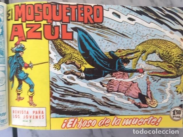 Tebeos: EL MOSQUETERO AZUL -Fascimil, completa, encuadernada - Ed. Bruguera - Foto 3 - 195331127