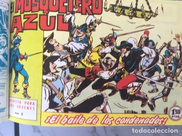 Tebeos: EL MOSQUETERO AZUL -Fascimil, completa, encuadernada - Ed. Bruguera - Foto 4 - 195331127