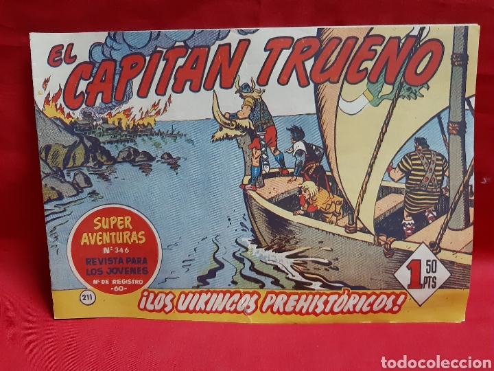 EL CAPITÁN TRUENO SUPERAVENTURA NÚMERO 346 AÑOS 1960 EDITORIAL BRUGUERA (Tebeos y Comics - Bruguera - Capitán Trueno)